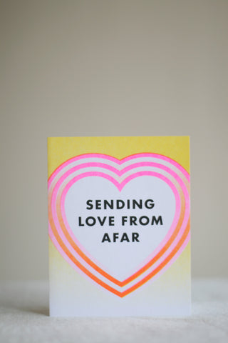 Sending Love From Afar Card