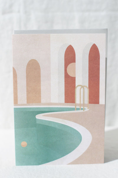 Pool With Arches Card