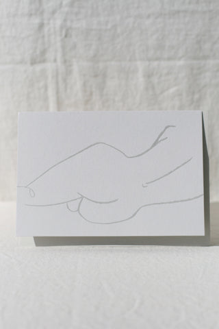 Sleeping Nude Card