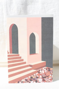Terracotta Terrazo & Stairs Card