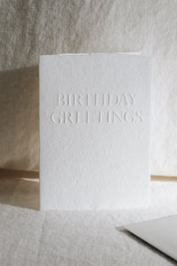 Birthday Greetings Card