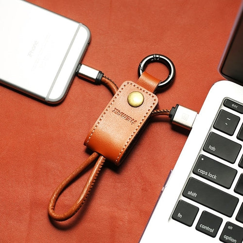 Leather Keychain Lightning Cable - Stallion's Edge