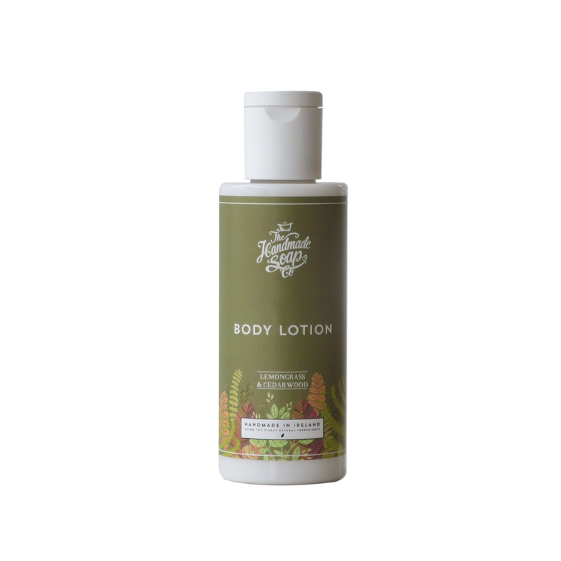 All Natural Handmade Chemical Free Lemongrass & Cedarwood Essential Oil Body Lotion Travel Size