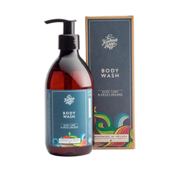 All Natural Handmade For Men Basil, Lime & Sweet Orange Essential Oil Body Wash Shower Gel