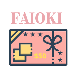Faioki Beauty Gift cards in $10 $25 $50 or $100