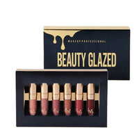 BEAUTY GLAZED 6pcs/Set Liquid Lipstick Lip Gloss Professional Makeup Matte Lipstick Lip Kit Long Lasting Cosmetics