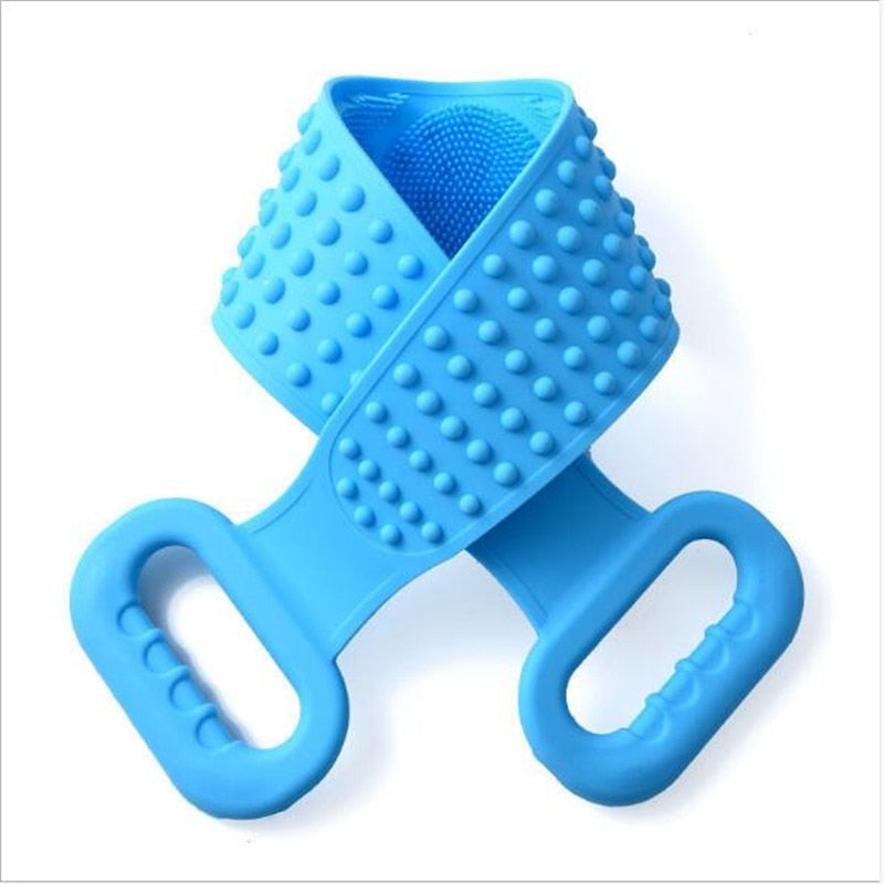 Silicone Shower Extended Scrubber for showers or hand cleansing.