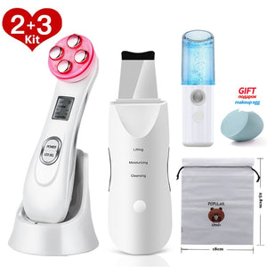 Skin Scrubber Facial Cleansing Peeling Machine Blackhead Remover Pore Cleaner EMS LED Anti Aging Facial Massager EMS Mesotherapy