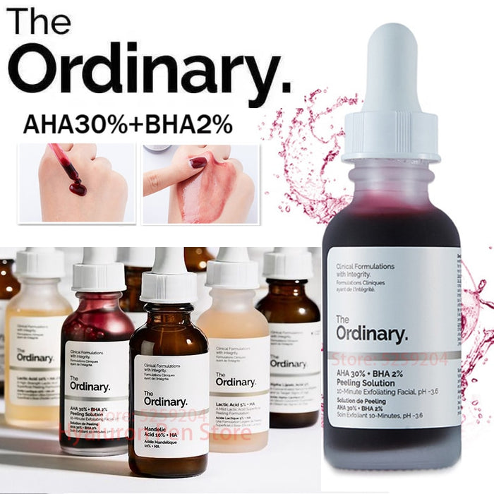 The Ordinary AHA 30%+ BHA 2% Peeling Solution 30ml .Blemish Remover and Acne Scars Whitening,  Face Serum.