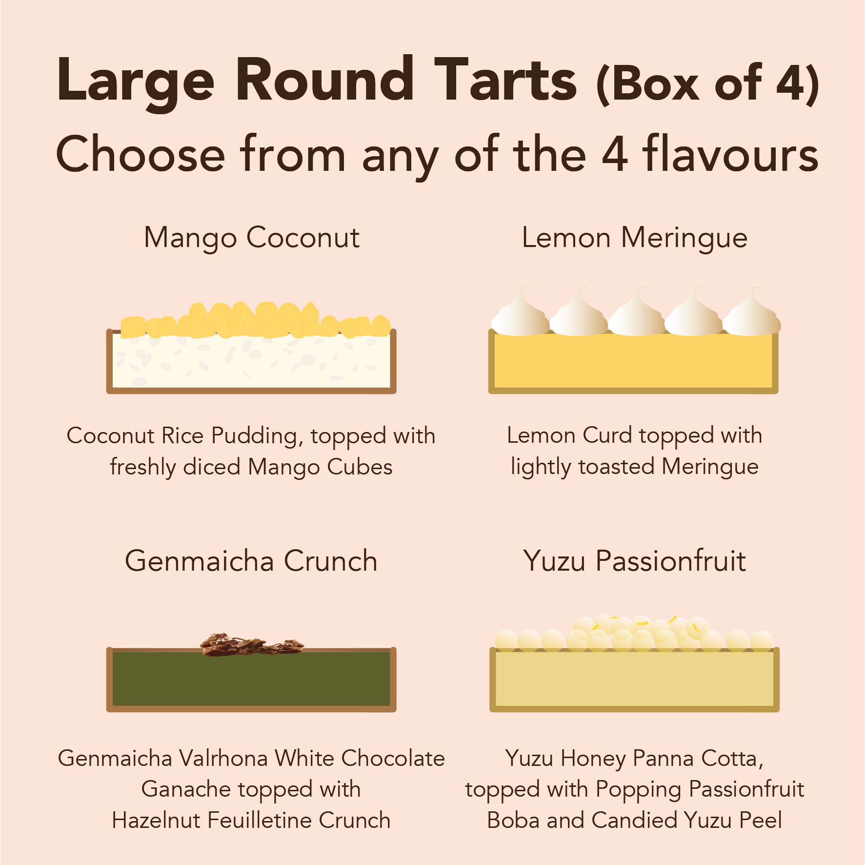 Large Round Tarts (Choose your flavours)