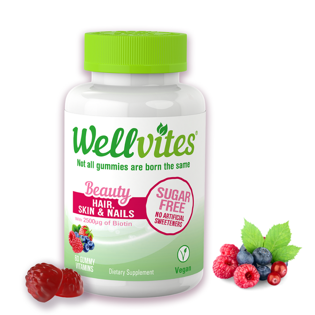 Wellvites Beauty- Hair,Skin & Nails Sugar Free Gummies - WellVites