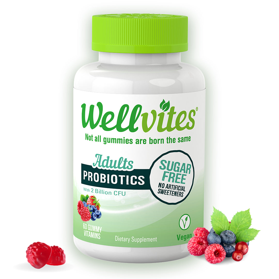 Wellvites Adults Probiotics Sugar Free Gummies