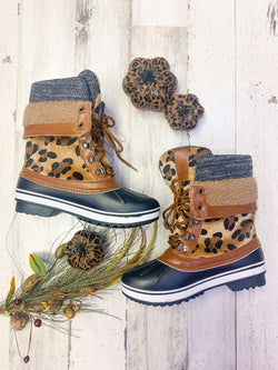 Leopard Snow Duck Boots