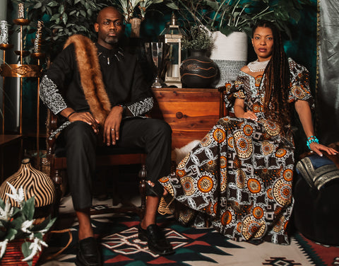 Thrift Barn Wakanda Collection, King and Queen Picture of Gregory and Chenoa