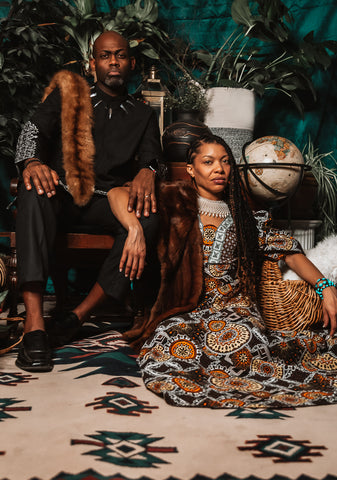 Thrift Barn Interior Design Wakanda Collection King and Queen Picture, Gregory and Chenoa