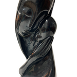 Black Marble Mother & Son Sculpture