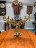 7 Light Antique Vintage Solid Brass Church Alter Candelabra/Candle Stick Stand