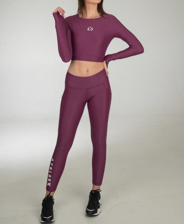 Energy Crop Top Long Sleeve Purple