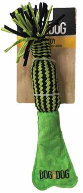 Jersey Rope with Crinkle and Squeaker