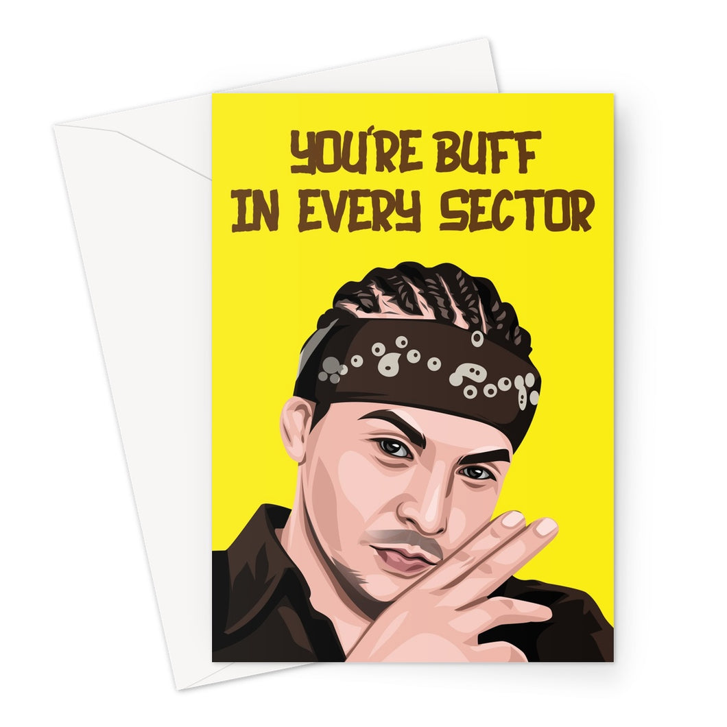 Buff in Every Sector Card Greeting Card