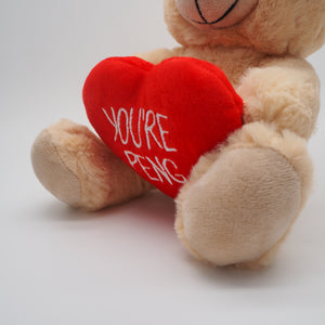 Buff Zoo You're Peng Teddy Bear - Holding Heart