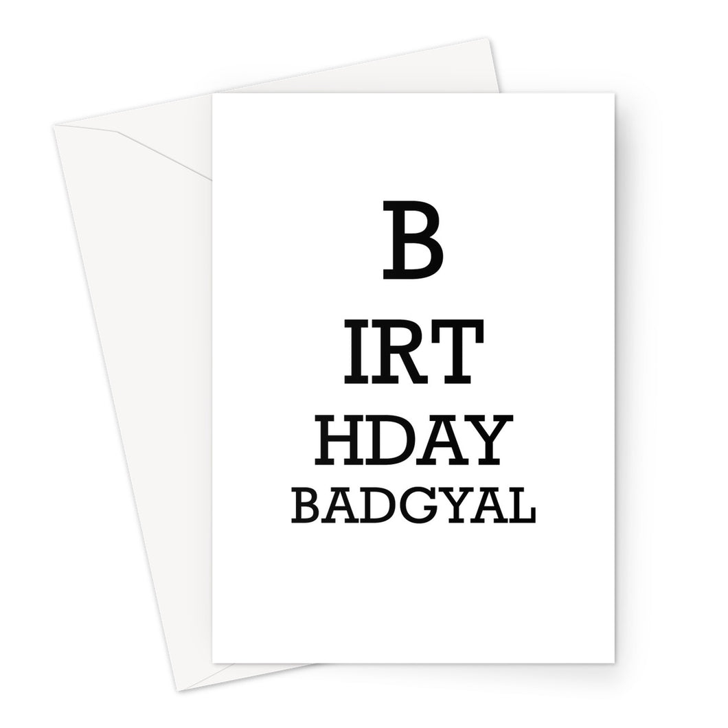Birthday Badgyal Card