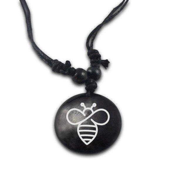 Hand Made Stone Bee Necklace