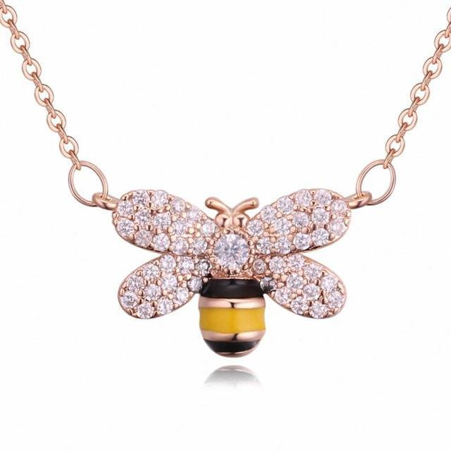 Limited Edition Cubic Zirconia Bee Necklace