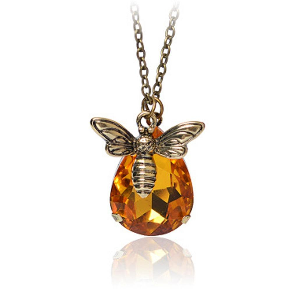 Limited Edition Honeybee Gemstone Necklace