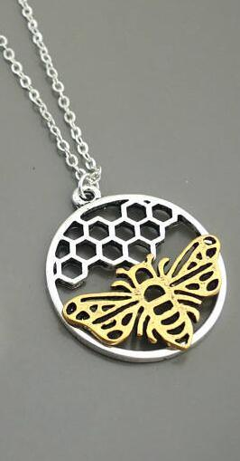 Limited Edition Honeycomb and Bee Necklace