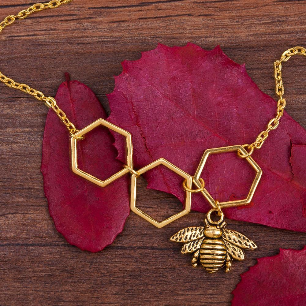 Limited Edition Honeycomb Bee Necklace