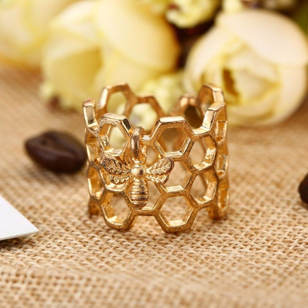 Limited Edition Honeycomb Bee Ring