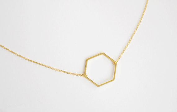 Limited Edition Minimalistic Honeycomb Necklace