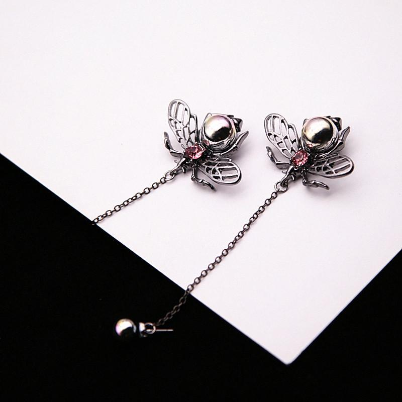 Limited Edition Pearl Bee Drop Earrings
