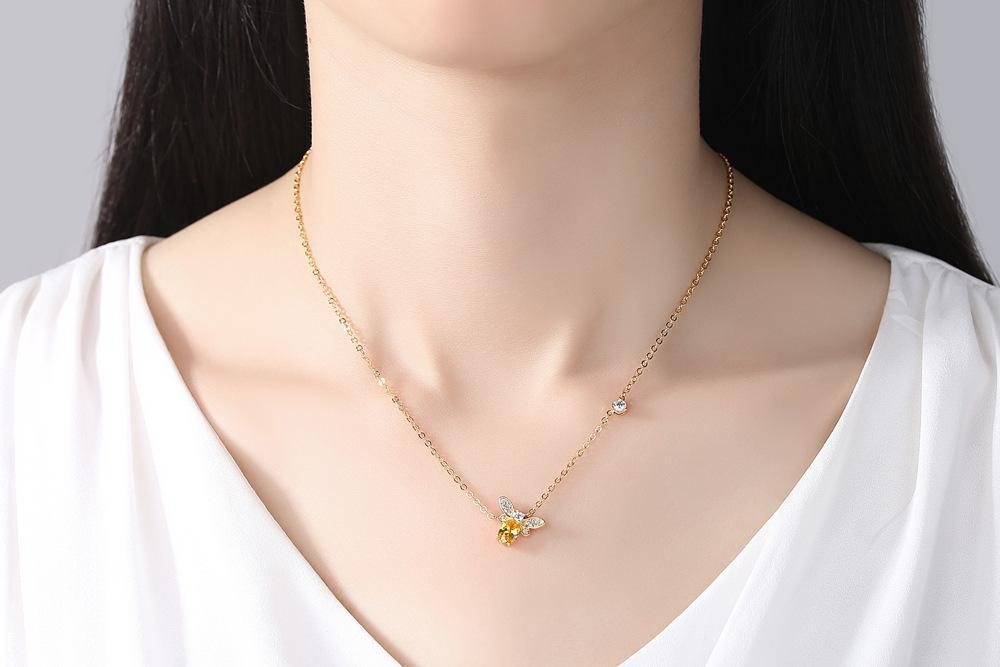 Limited Edition Queen Bee Gemstone Necklace