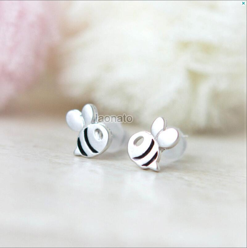 Limited Edition Studded Baby Bee Earrings