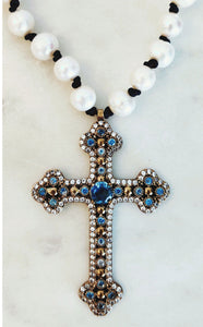 Julie Miles Abbey Cross Necklace