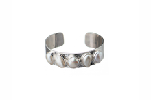 Load image into Gallery viewer, Julie Miles Baroque Pearl Cuff Bracelet