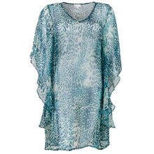 Load image into Gallery viewer, Amber Caftan Green/Turquoise Animal