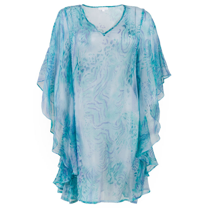 Joy Caftan Sky Blue Animal