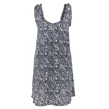 Load image into Gallery viewer, Frill Dress Grey Paisley