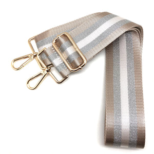 Champagne Stripe Canvas/Ribbon
