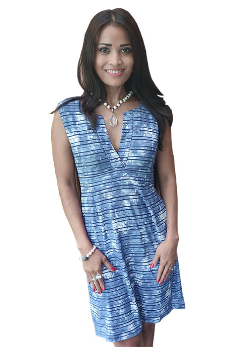 Ruby Dress Blue Stripe