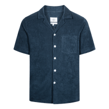 Load image into Gallery viewer, Navy Blue Nikben Bowling Terry Shirt