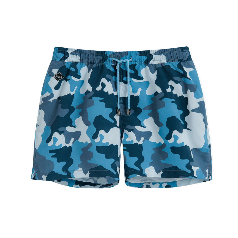 Nikben Navy Camo Swim Trunks