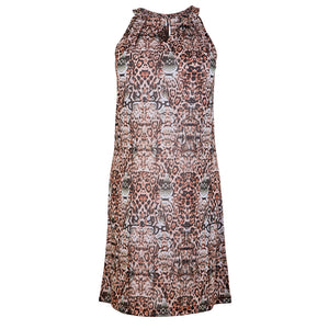 Judi Dress Peach Shell Print