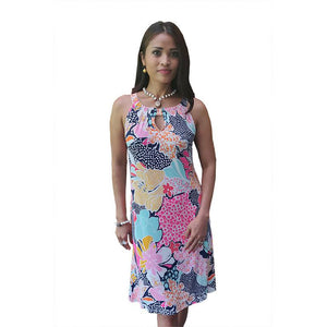Judi Dress Pink & Blue