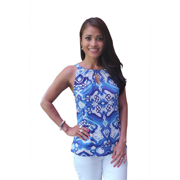 Judi Top Blue & White