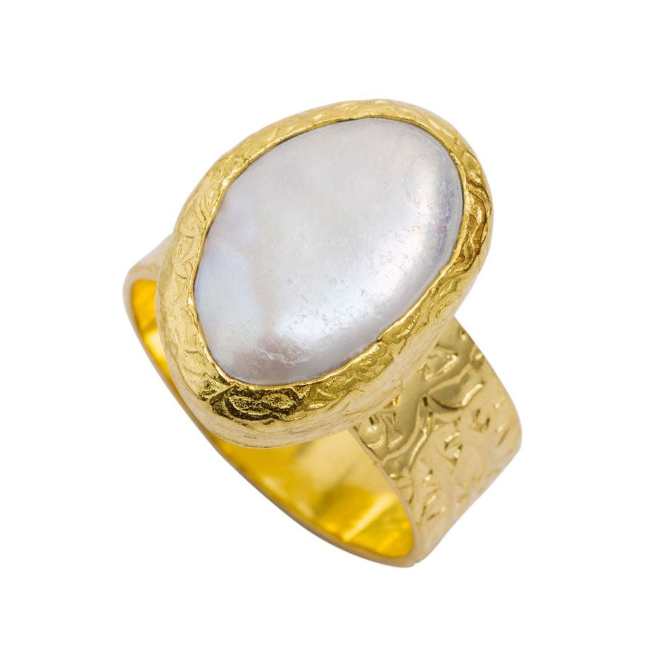 Julie Miles Gold Baroque Ring