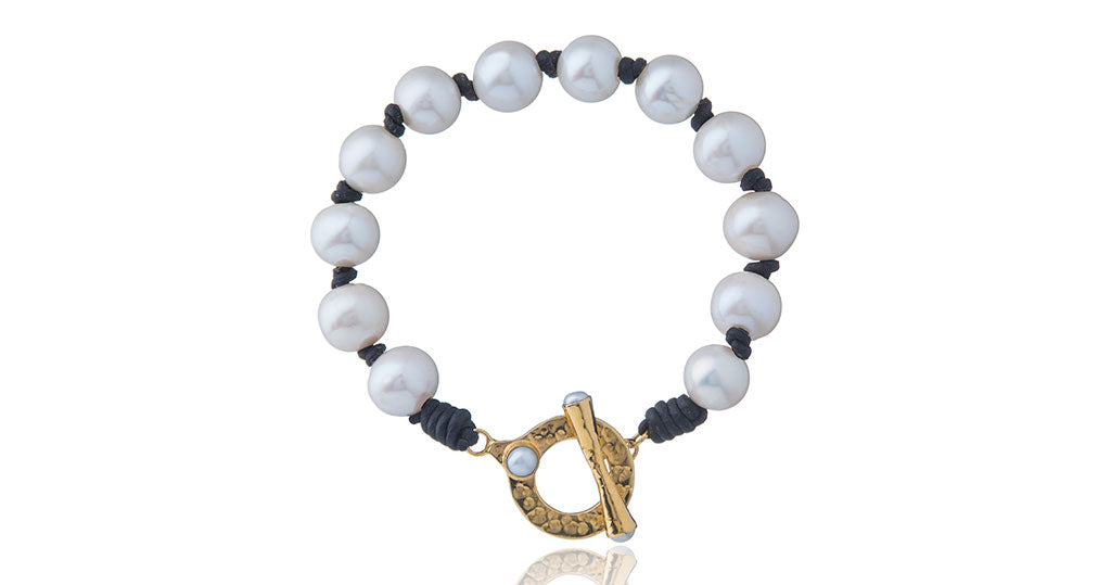 Julie Miles Pearl Toggle Bracelet